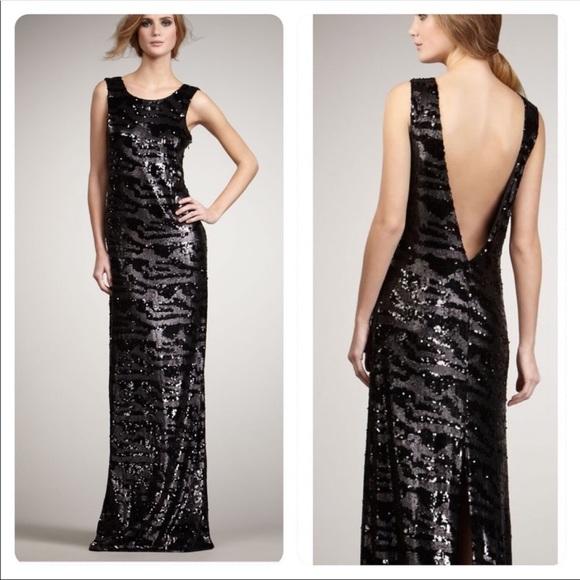 Rachel Zoe Dresses & Skirts - NWOT Rachel Zoe Isabella Sequined Gown Black M